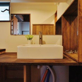 洗面台もナチュラルで素敵 ※写真は前回募集時のものです。