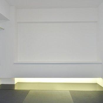 間接照明がお洒落アップされた和室