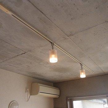 照明はライティングレールでおしゃれに※写真は3階の同間取り別部屋のものです