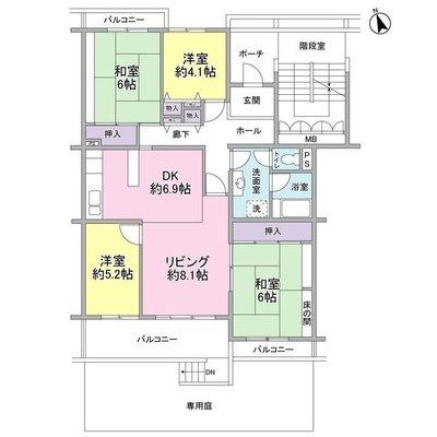金沢シーサイドタウン並木二丁目第2住宅2-5号棟 の間取り