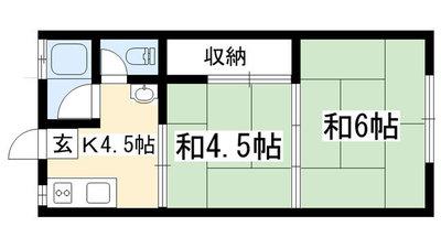 ハイツ松尾 (左京区) の間取り