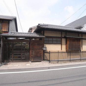 ザ・京都な外観!