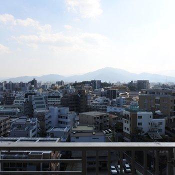 どうですか、この眺望!!!※写真は11階からの眺望