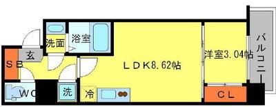 SERENiTE新大阪の間取り図