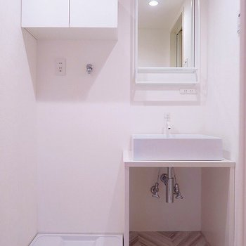 洗面台のシンプルさが好きです