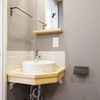 スッキリしている独立洗面台※写真は前回募集時のものです