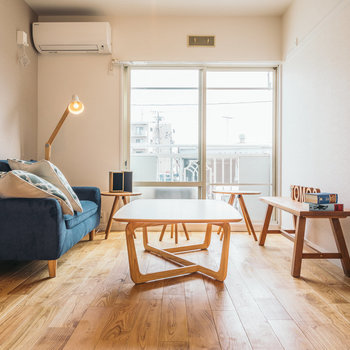 【afterイメージ】ビビッドカラーの家具がよく映えます。