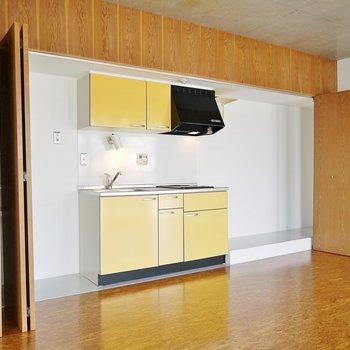 冷蔵庫も食器棚も一緒に隠せちゃう!(※写真は同タイプの別室)