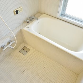 タイル張りのお風呂は追い抱きもできます♪(※写真は同タイプの別室)