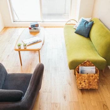 明るい家具も、落ち着いた色味とも相性◎※写真はイメージ