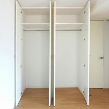 収納もこの通り!※写真は3階の同間取り別部屋のものです。
