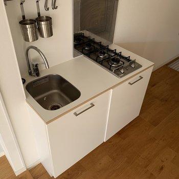 調理スペースがあるので、自炊派の方にもおすすめできます。