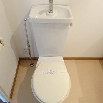 トイレは洗面と同室です。