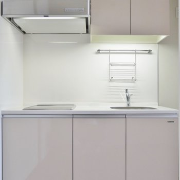 収納スペースがしっかり確保されたキッチン