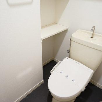 トイレも広々!