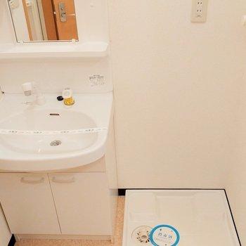 洗面所もゆったりと。