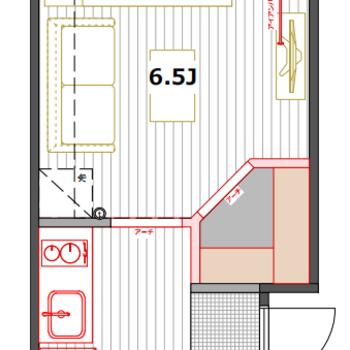 2部屋限定、2つのアーチ開口がポイント!