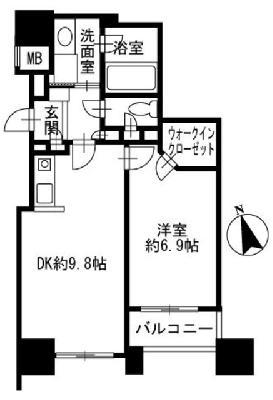 ファミール新宿グランスイートタワーの間取り
