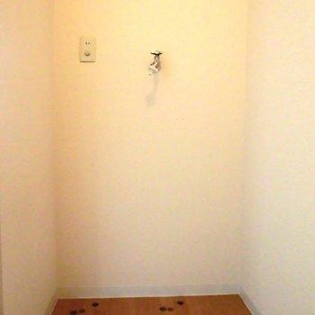 洗濯機置き場、家の中なので便利です◎