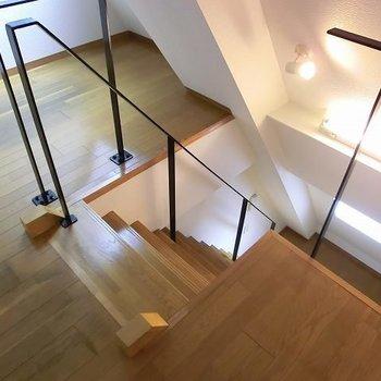 階段はこんな感じ。※写真は別部屋