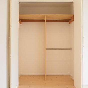 寝室のクローゼット容量たっぷり!※写真は前回募集時のお写真です。