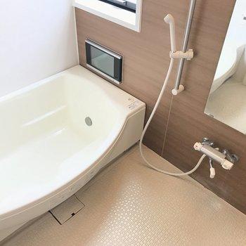 TV付きのお風呂なんて贅沢