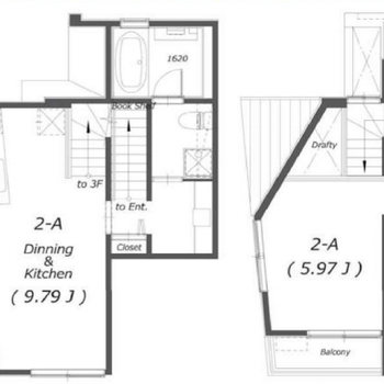 2階、3階が居住スペースです