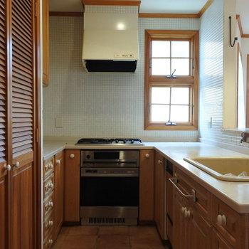キッチンはとってもゆったりサイズ!