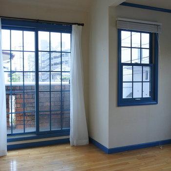 こちらはブルーのお部屋。