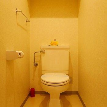 トイレはウォシュレットはついてません