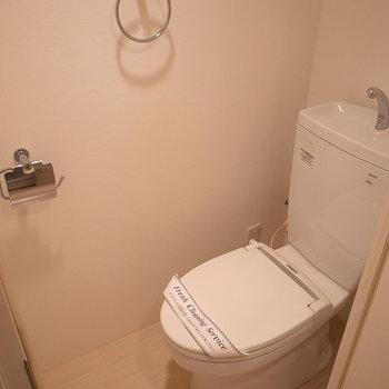 トイレ、ここもオシャレな感じ(写真は別部屋です)