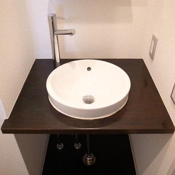 丸い洗面台、可愛い