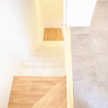 この階段を降りて地下へ
