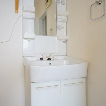 洗面台もしっかり独立!※写真は通電前、前回募集時のもの