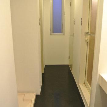 水回りはこんな風に廊下に集まっていて※写真は別部屋