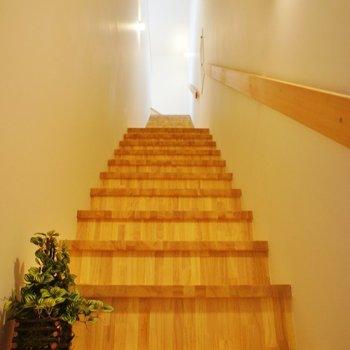 ながーい階段。
