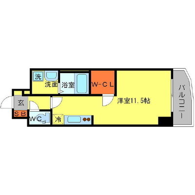 大阪 PRESTIGE ACCOMMODATION の間取り