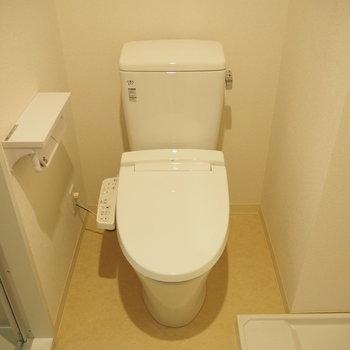 脱衣スペースにトイレもあります