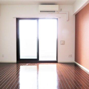 壁面が多いのがグッド(※写真は12階の同間取り別部屋のものです)