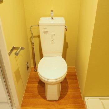 トイレの前が脱衣スペースです