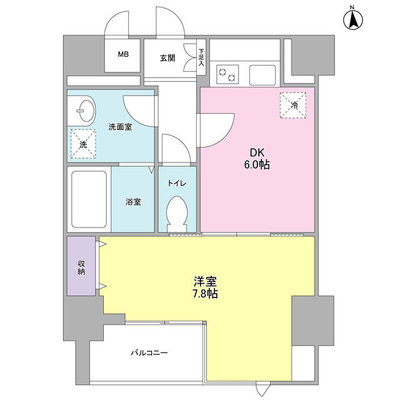 ISSEI Residence 神樂坂 の間取り