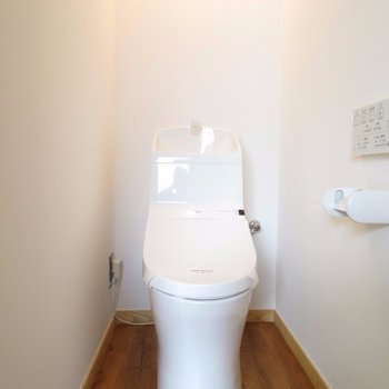 おトイレはスマートに。収納はナシです
