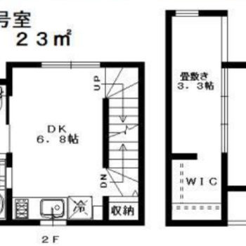 1-3Fまでのお部屋です