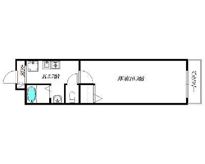 パークサイドスクウェア北新宿~旭化成ヘー の間取り