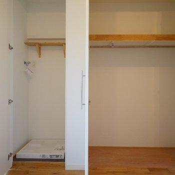 洗濯機は室内に写真は前回施工のお部屋