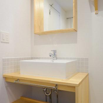 洗面台もTOMOSオリジナル※写真は前回募集時のものです