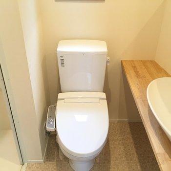 トイレ独立ではないですが立派です。もちろんウォシュレット!