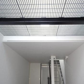 玄関入って見上げると、2階から光が入ります