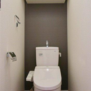独立トイレで清潔!※写真は同タイプの別部屋です