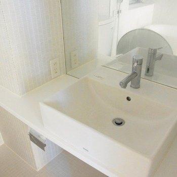 独立洗面台も清潔感にある感じです ※写真は別部屋